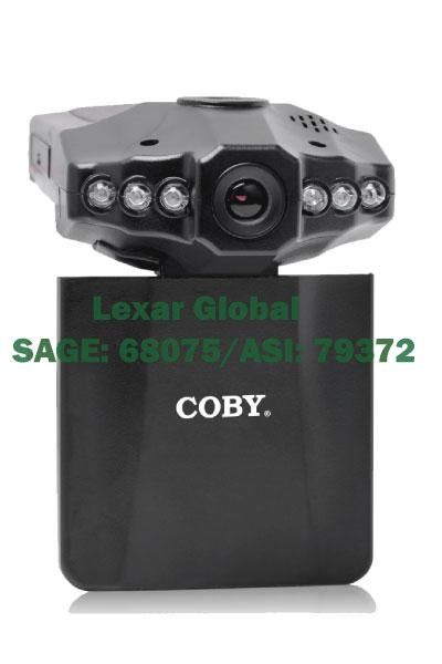 DCS-404 Coby 2.5-Inch Swivel Screen 720p Car Dash Cam