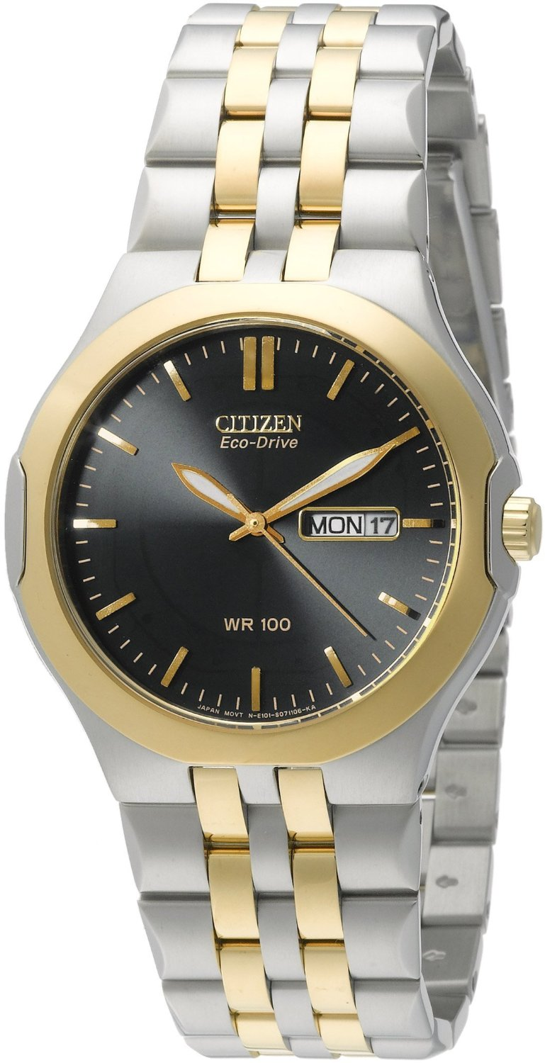 BM8404-59L Citizen Men's Two-Tone Stainless Steel Eco-Drive Blue Dial Watch