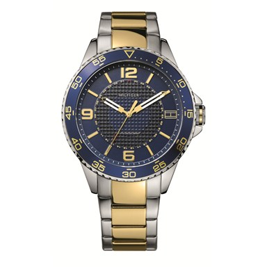 1790839 Tommy Hilfiger Kiefer 3-Hand Analog Two-Tone Stainless Steel Men's Watch