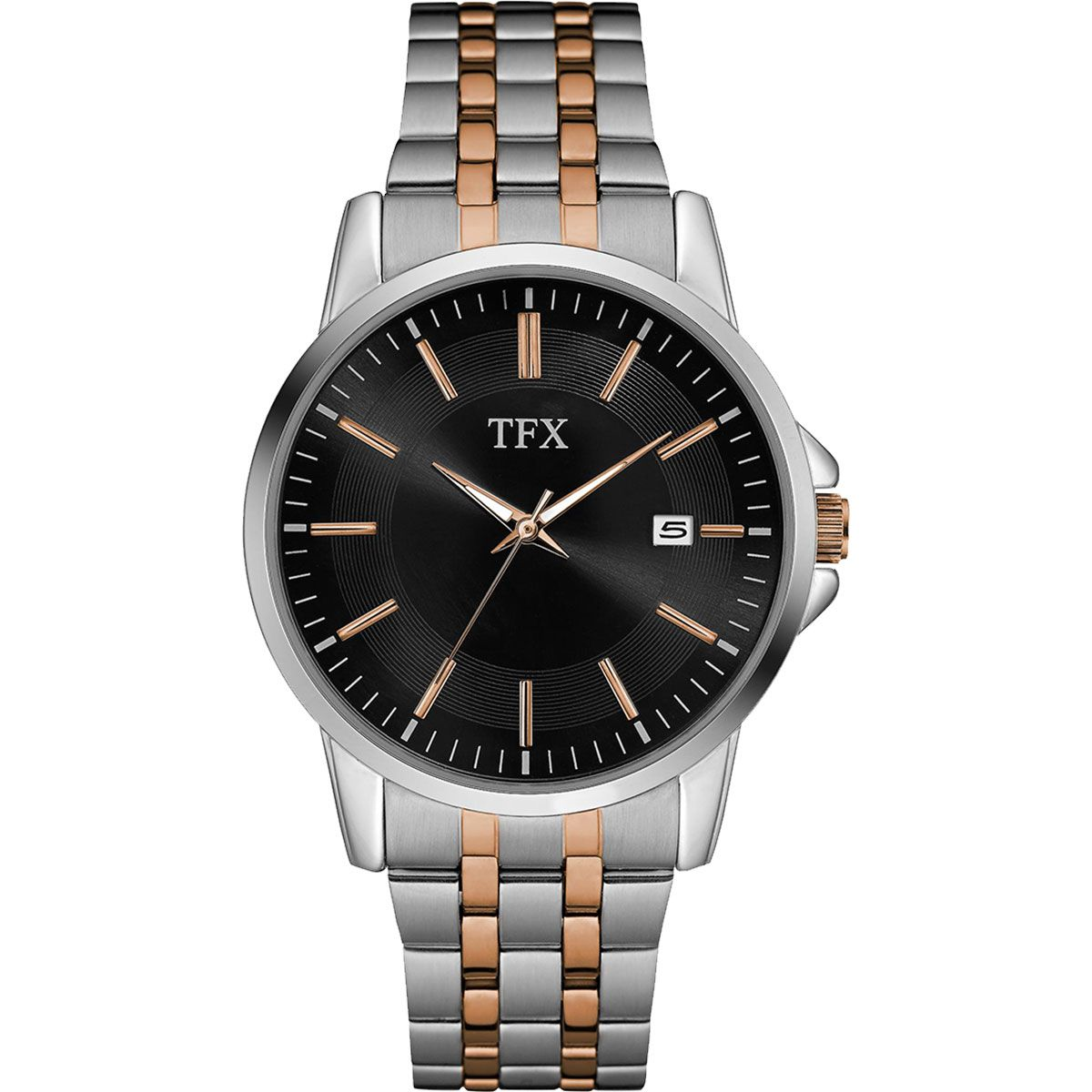 38B101 TFX Men's Stainless Steel and Rose Gold Bracelet Watch