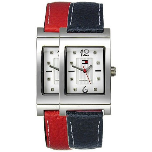 1780565 Tommy Hilfiger Ladies Reversible Blue/Red Leather Strap Watch