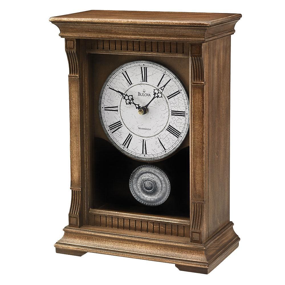 B7663 Bulova Warrick III Musical Chime Pendulum Clock