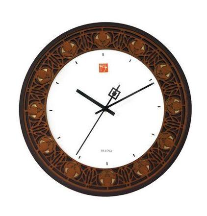 C3339 Bulova Nathan Moore House Wall Clock (Frank Lloyd Wright Collection)