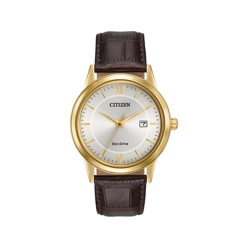 Citizen Ladies' Eco-Drive Watch With Black Leather Strap