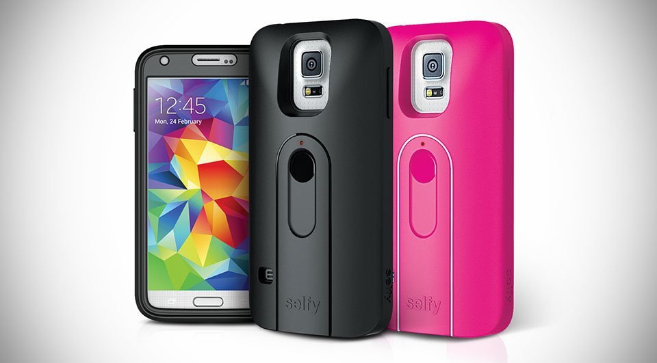 SS5SELF iLuv GALAXY S5 case with built -in-wireless camera shutter
