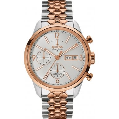 65C114 Bulova Men's Chronograph Two-Tone Stainless Steel Watch