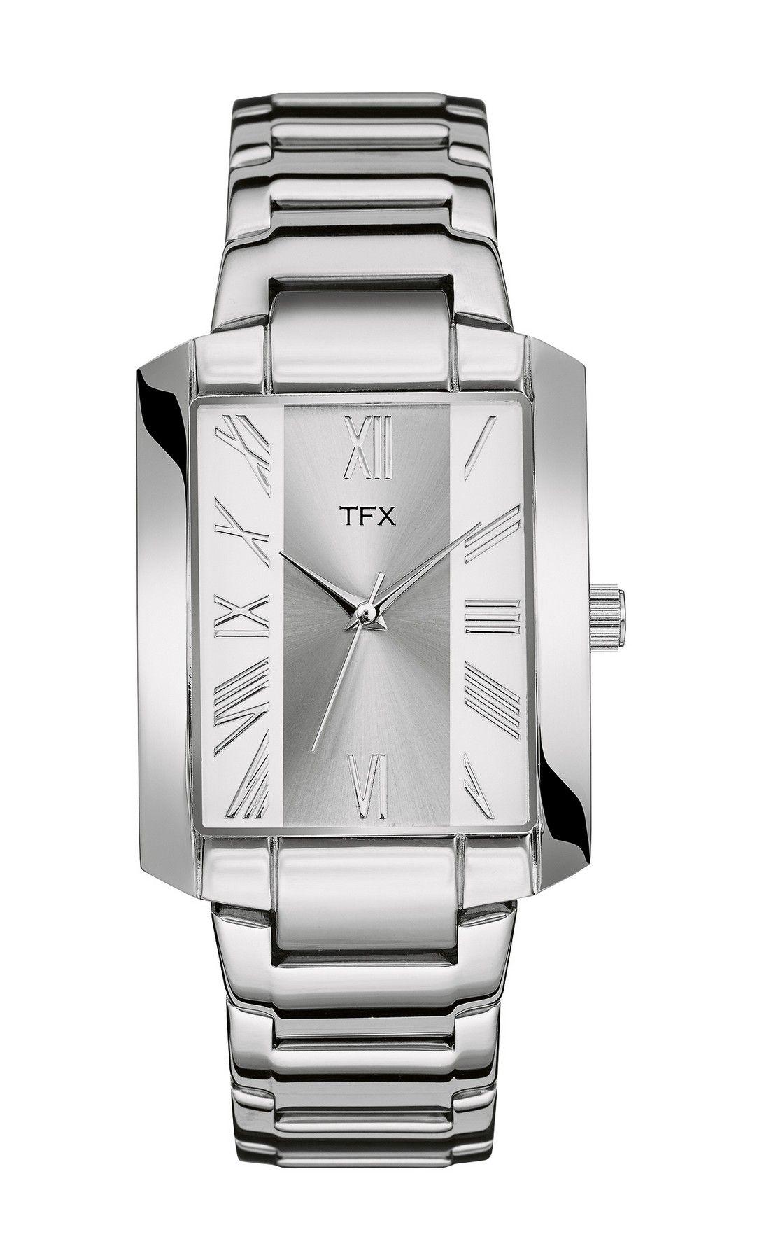 36A103 Bulova TFX Collection Men's Tank Steel Bracelet Watch w/ Rectangle Dial