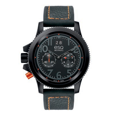 07301423 ESQ Men's Lefty Fusion Black Ion-Plated Chronograph Watch with Black Dial
