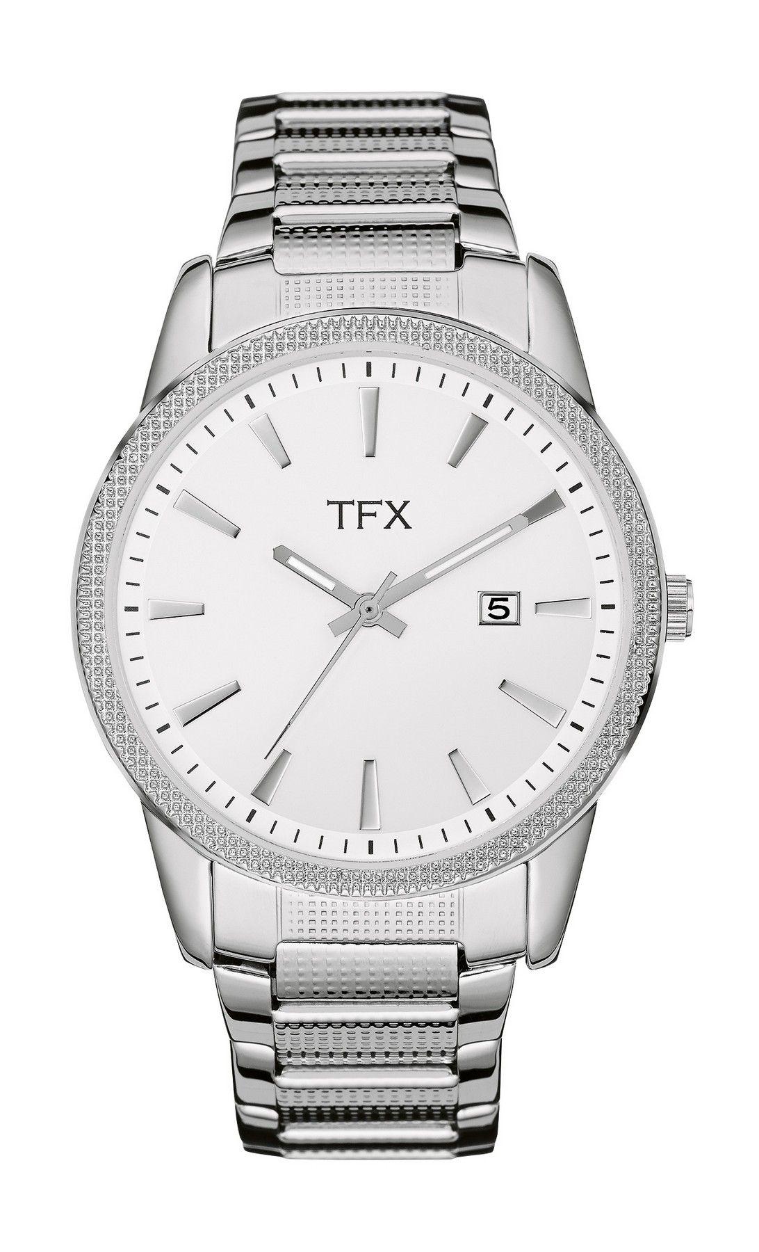 36A105 Bulova TFX Collection Men's Round Dial Steel Bracelet Watch w/ Swarovski Crystals