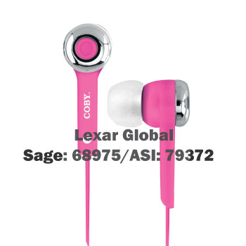 CVE-101 Coby Stereo Earbuds with Built-IN MIC