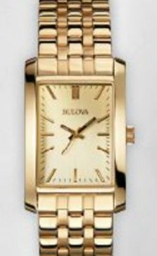 97L144 Bulova Ladies Corporate Collection Gold Watch w/ Engravable Buckle